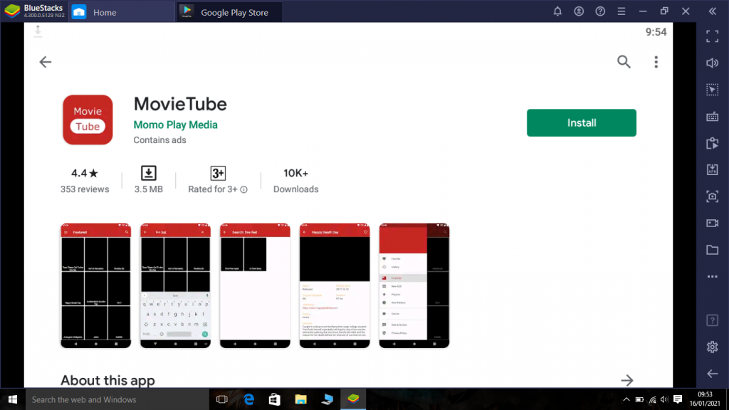 Movie tube app